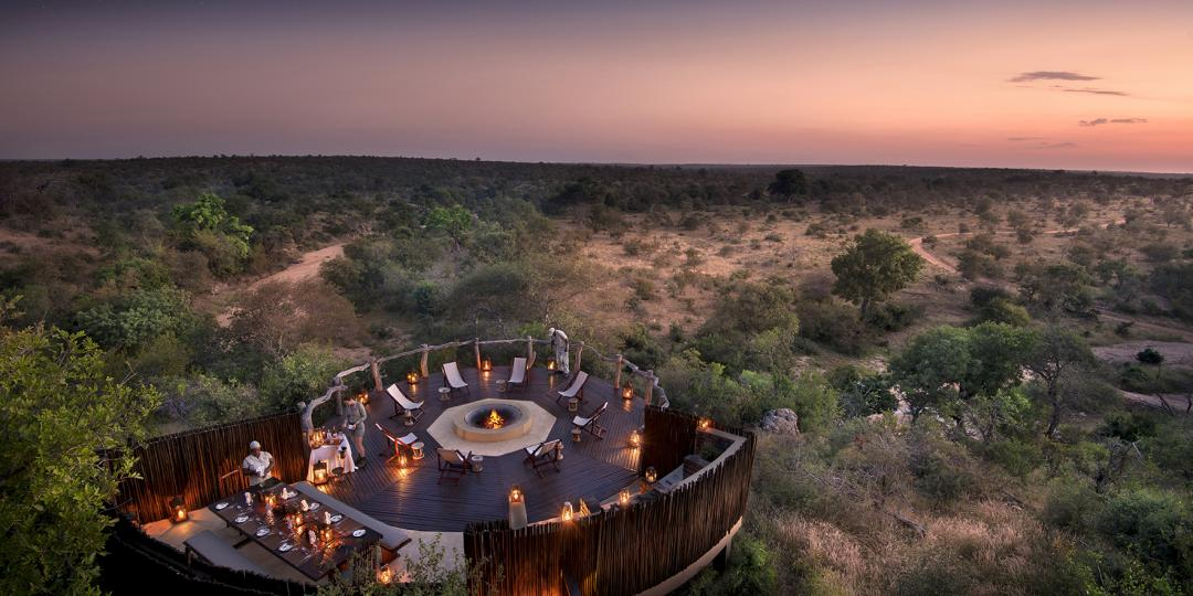 The typical safari bush dinner is a popular experience among millennials.