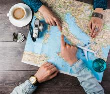 59% of travellers begin researching their next trip between one and three months before departure