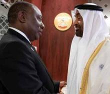 A handshake of commitment. Credit: La Gazzetta del Sudafrica.