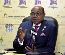 Centre founder and Jamaican Minister of Tourism, Edmund Bartlett announces the crisis centre.