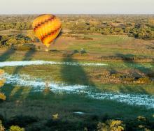 Unique views over Botswana's landscape.