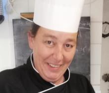 Chef Mullholland in her kitchen.