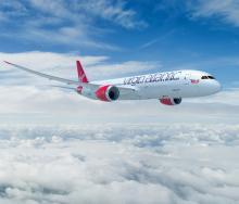 The Virgin Atlantic 787-900 Dreamliner.