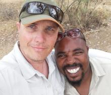 Henroux Jansen Van Rensburg (left), and Rufus Mashaole (right), both freelance tourist guides based in Mpumalanga